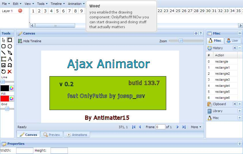Web动画开发工具包 AJAX Animator