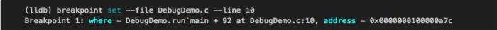 使用LLDB调试程序