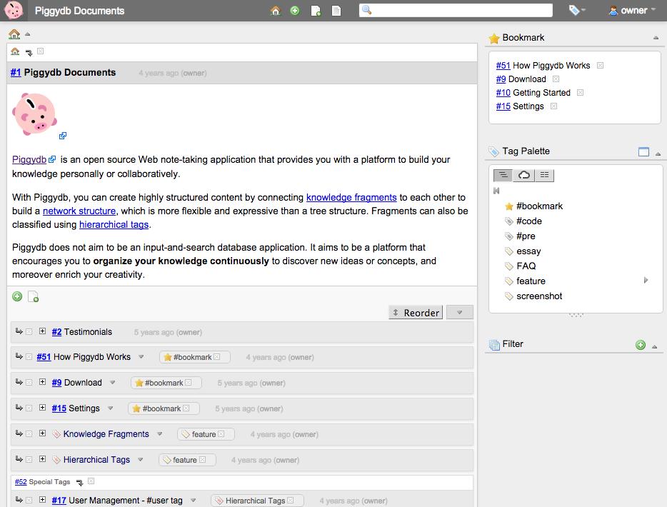 Piggydb 7.0 发布,个人知识库