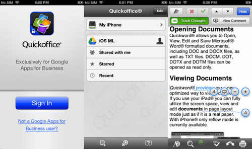 Google 宣布 Quickoffice 登陆 Android 和 iPhone