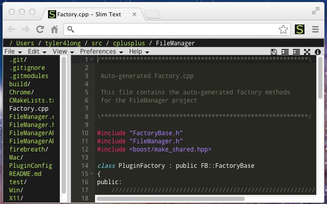 浏览器中的文本编辑器:Slim Text