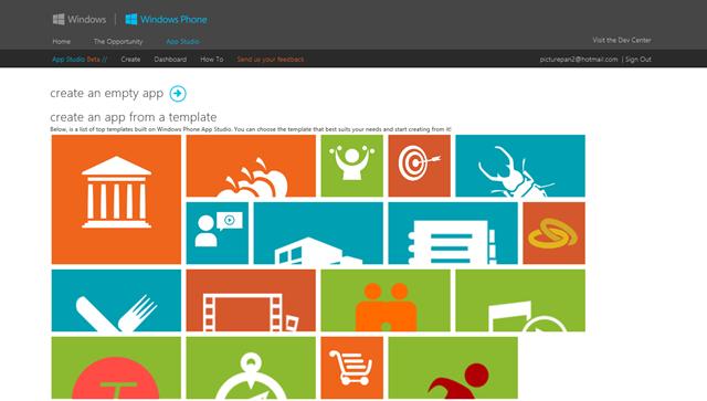 Windows Phone App Studio 开发工具再更新