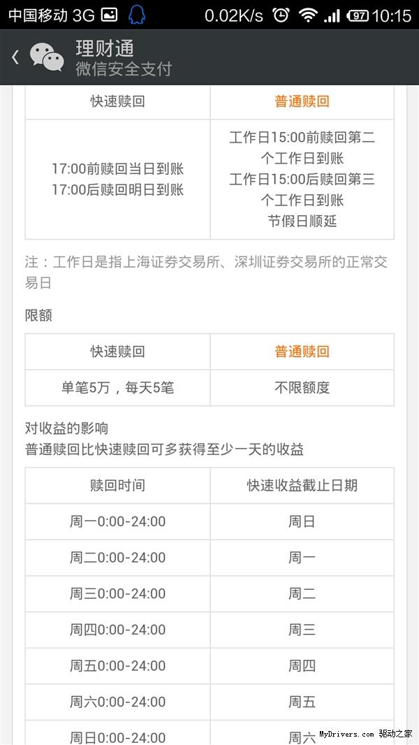 """微信理财通""""全额宝""""上线 收益超6.3%"""
