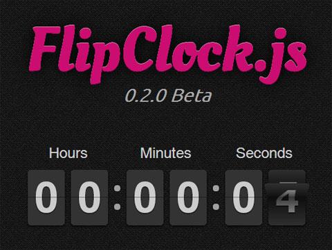 一个实现看时钟和倒计时的jQuery插件:FlipClock.js