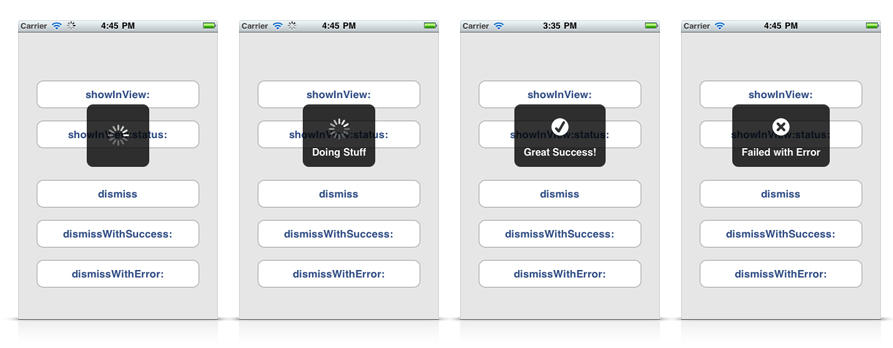 实现加载中的iOS效果:SVProgressHUD