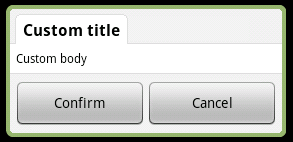 Custom Android Dialog