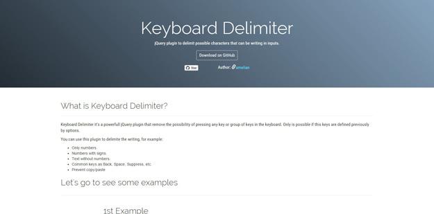 Keyboard Delimiter jQuery Plugin