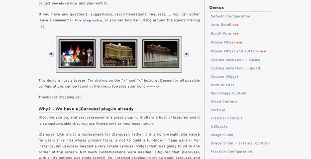 18个最佳jQuery旋转木马(Carousel )插件