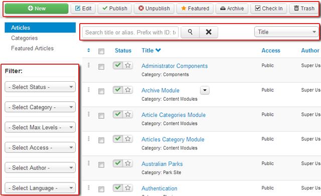 Joomla 2.5 和 3.0 版本之间 10 大差异