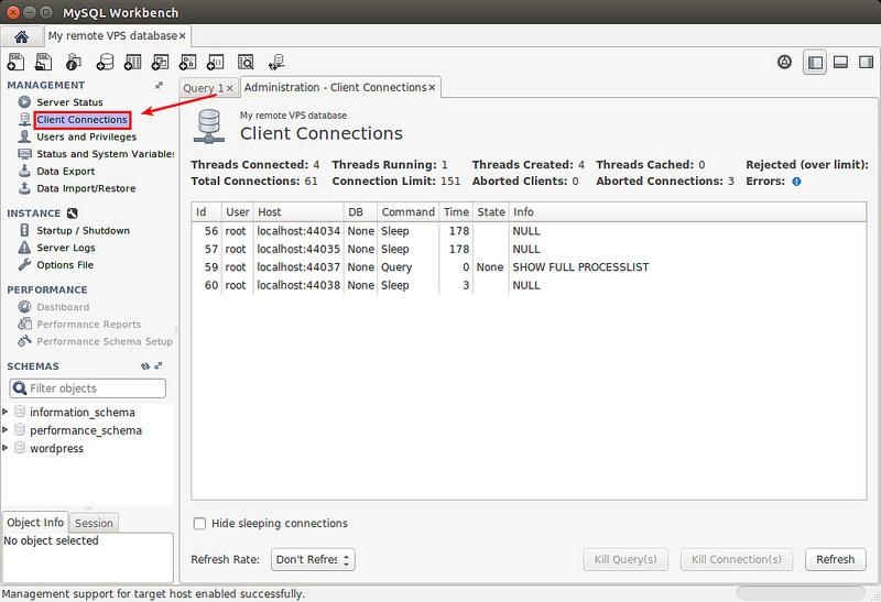 如何使用图形化工具远程管理 Linux 上的 MySQL