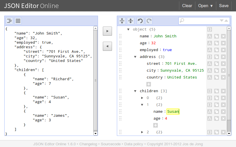 JSON Editor Online:基于Web查看、编辑和格式JSON数据的工具