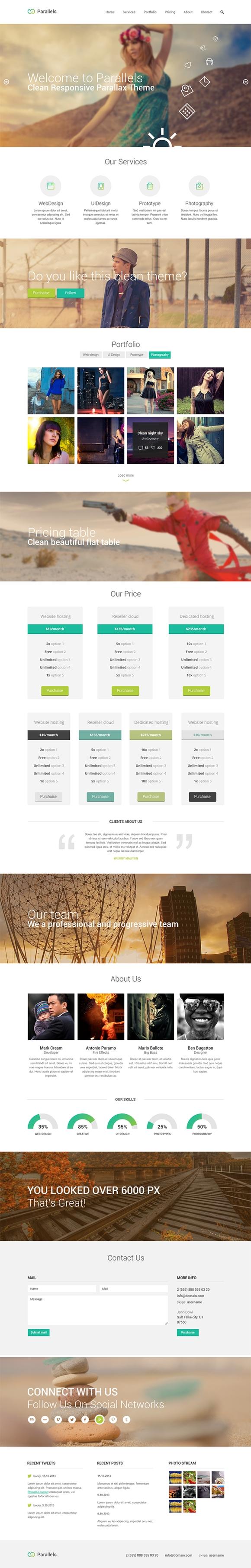 25 个最好的免费 PSD 网站模板