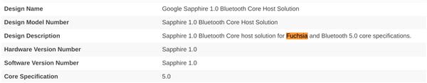 安卓取代者:谷歌 Fuchsia OS 操作系统已获蓝牙认证