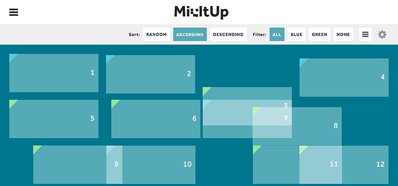 超酷的jQuery过滤和排序插件:MixItUp