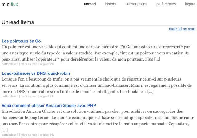 基于Web的RSS阅读器:Miniflux