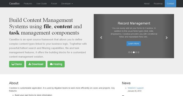 项目管理工具:Casebox