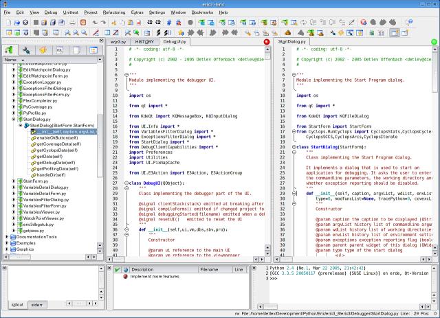 Python与Ruby集成开发环境IDE,Eric 5.2.6 发布