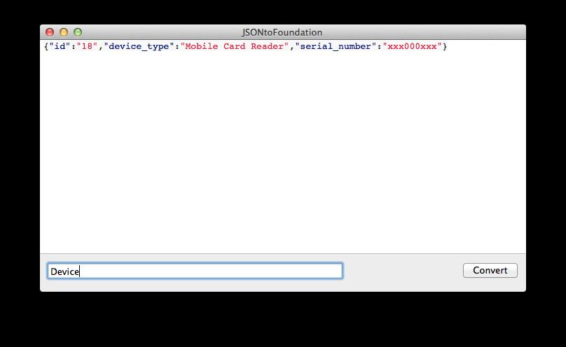 将 JSON 对象转换成 Foundation 对象并且导出成类文件