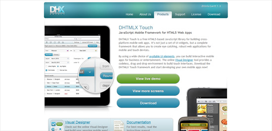 dhtmlx touch