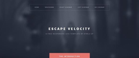 Escape Velocity - html5 css3 templates