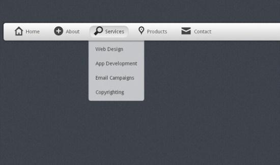 35 个采用HTML5,jQuery和CSS3技术实现的下拉菜单指南