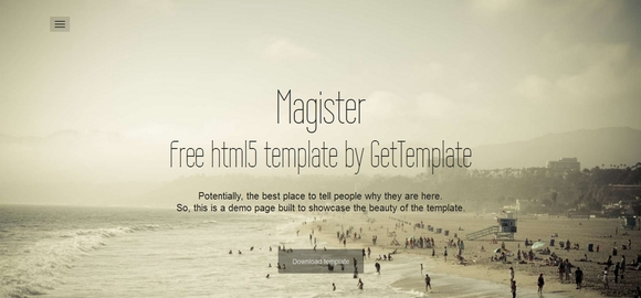 Magister - free website templates