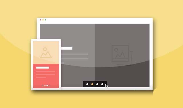 创意jQuery和CSS3滑动覆盖响应式幻灯片特效