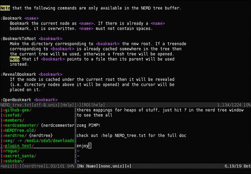 Vim的树形浏览器插件:nerdtree