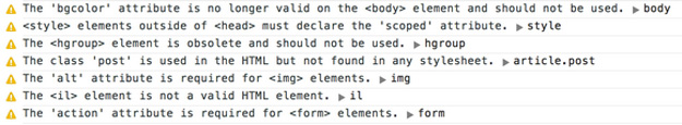 代码质量工具:HTML Inspector