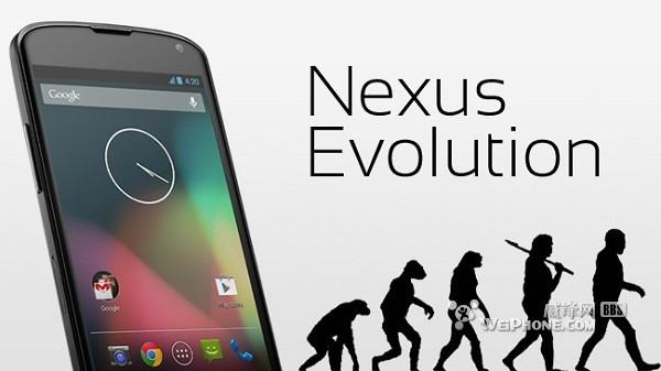 一张图看谷歌 Nexus 手机进化史