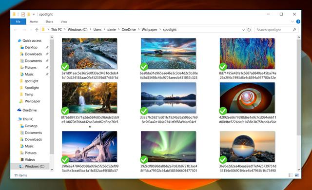 如何保存 Windows 10 Spotlight 锁屏壁纸