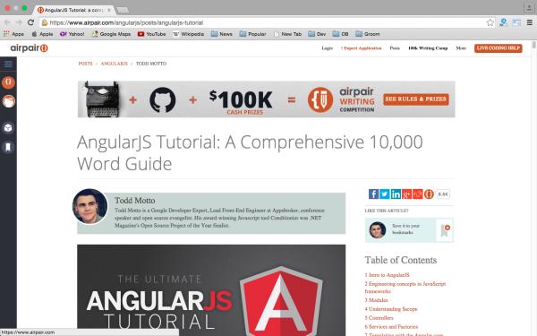 best resources and tutorials to learn AngularJS - angularjs-tutorials