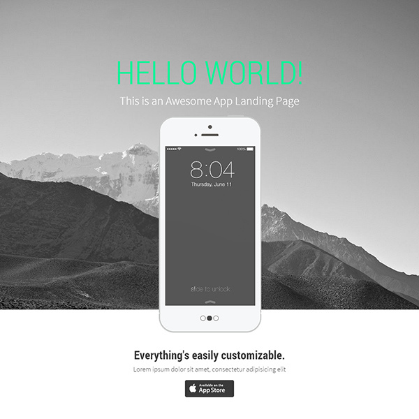 Landy Bootstrap Template