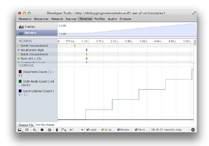 Chrome开发者工具之JavaScript内存分析