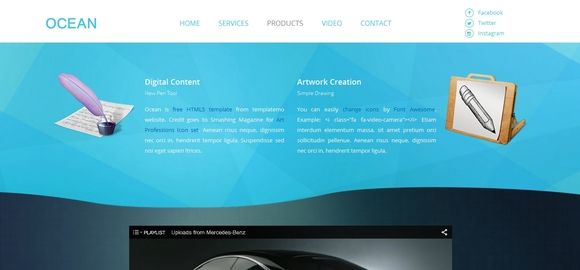 Ocean - best html5 templates