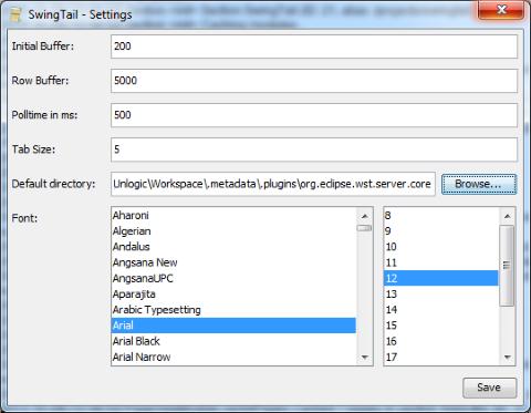 基于Java/Swing实现的Unix tail命令图形化工具:SwingTail