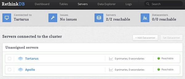 RethinkDB 2.0.1 发布,分布式数据库