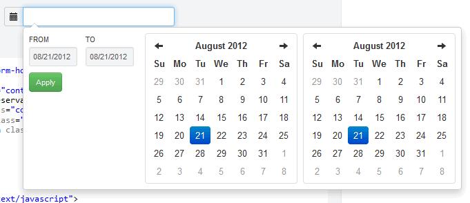 bootstrap-daterangepicker - 基于 Bootstrap 框架的双日历选择控件