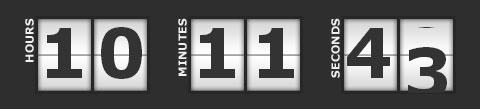 jQuery Countdown Script - 倒计时jQuery插件