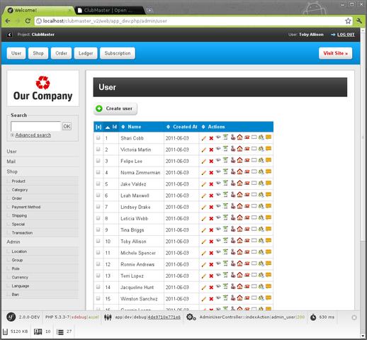 开源会员管理系统,ClubMaster 1.3 发布