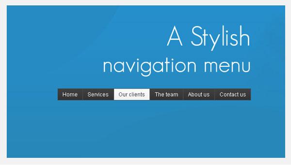 A Stylish Navigation Menu With jQuery.jpg