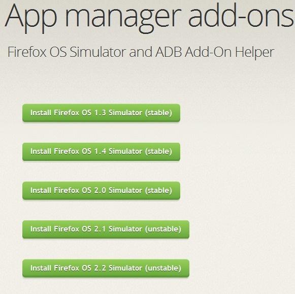 Mozilla Firefox OS 2.2 模拟器发布