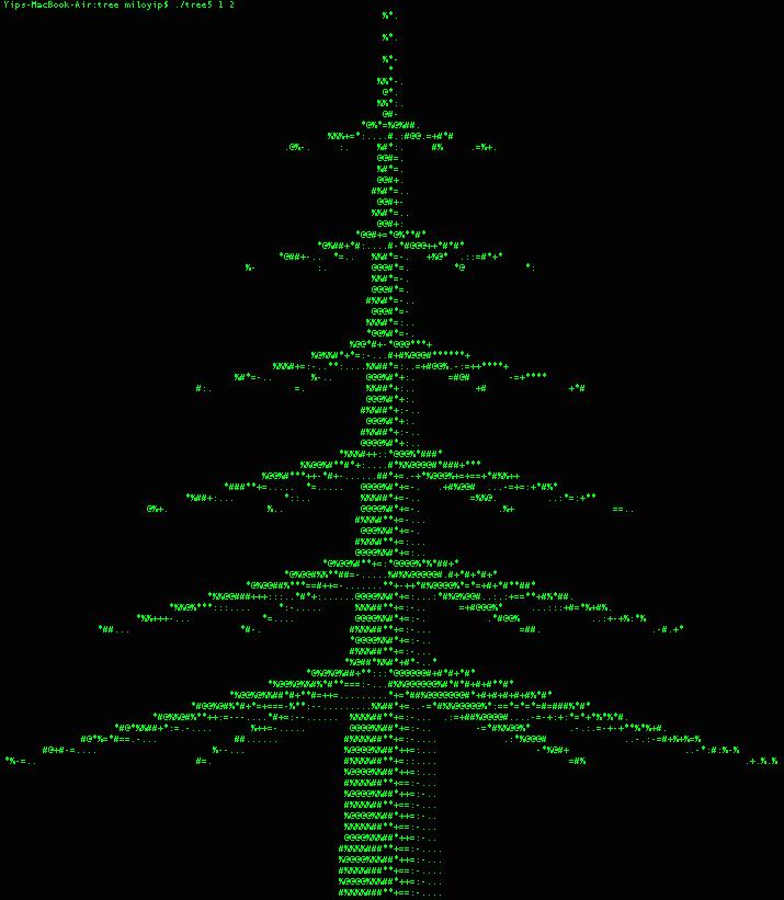 """如何用 C 语言画一个""""圣诞树""""?"""
