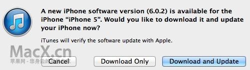 苹果发布 iOS 6.0.2,解决 WiFi 问题