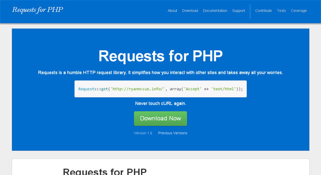 PHP 的 HTTP 客户端库:Requests