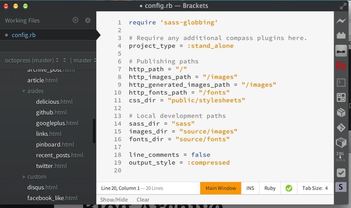 Brackets—又一款WEB开发神器