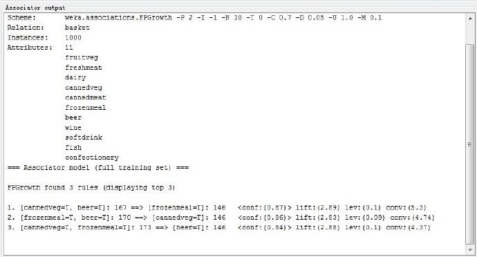 数据挖掘(4):使用weka做关联规则挖掘