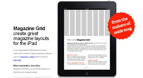移动 CSS 框架 Magazine Grid