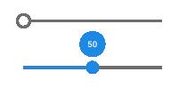 Slider with number indicator
