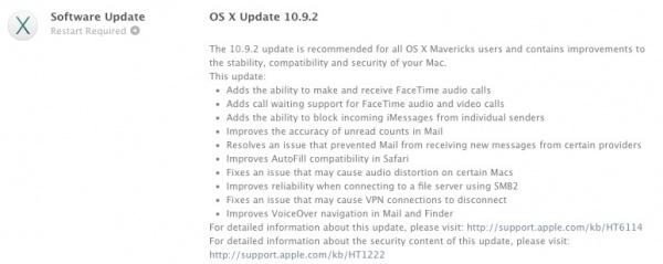 苹果发布 OS X 10.9.2 更新,修复 SSL 漏洞